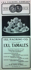 IXL Tamales ad ad (bunky's pickle) Tags: food restaurants sanfranciscobayarea sanfranciscocalif menus advertisements cookery tamales ixlpackingcompany 19001906