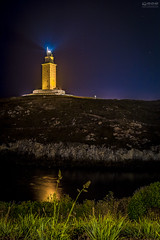 Coruña 2016-09 Nº 014 (-COULD 2.0) Tags: hercules canon650d canon coruña tower sea night sigma1750 spain