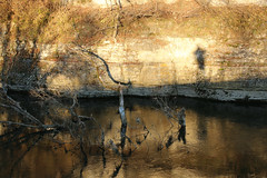 Me And My Specter (gripspix (OFF)) Tags: 20161130 reflections spiegelungen neckar river fluss bäume trees fels rock sunny sonnig shadow schatten me selfie ich
