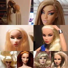 Dolly Reroots heads (tecno_79) Tags: poppyparker fashionroyalty nuface jemandtheholograms re roots ottawa before after 2016 fashion dolls riopacheco elise eugeniafrostperrin adelemakeda kyorisato imogen giselle weiss