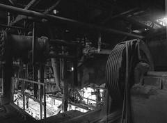 (Matt Allouf) Tags: bronica 645 etrsi 120 ilford delta 3200 black white medium format film epsonv500 coalbreaker industrial