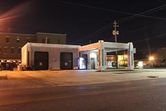 Former Texaco (plasticfootball) Tags: gadsden alabama nighttime fillingstation gasstation texaco