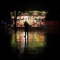 Carousel in the rain - South Bank, London (Flamenco Sun) Tags: colours reflection autumn london rain carousel