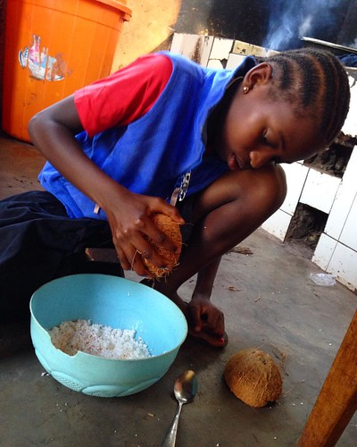 "Our dear Bali loves helping around the center...look at that delicious coconut! 💖 We are so lucky to have the some of sweetest kids in the world living with us!! 🌍#tuleeniorphans #yummycoconut #homesweethome #neemaintl • <a style=""font-size:0.8em;"" href=""http://www.flickr.com/photos/59879797@N06/30759555782/"" target=""_blank"">View on Flickr</a>"