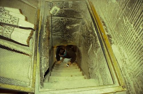 Ägypten 1999 (506) Krypta im Tempel von Dendera