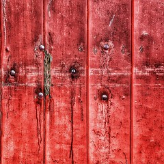 Just on one of my regular industrial estate walks...  #photography #photooftheday #photo #texture #abstract #abstraction #lines #red #wood #grunge #rust #chippedpaint #flakypaint #london (Andrea Kennard) Tags: instagramapp square squareformat iphoneography uploaded:by=instagram