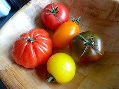 All 5 tomatoes (Julie70 Joyoflife) Tags: photojuliekertesz 2016 vegetables tomatoes diversity explore 100fav 200fav 10000views