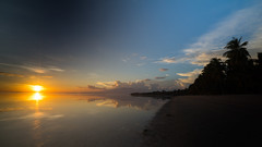 Sunset on Siquijor (Jan_Lewandowski) Tags: sunset beach sky water ocean sea clouds palms philippines siquijor 2016 sun travel traveling
