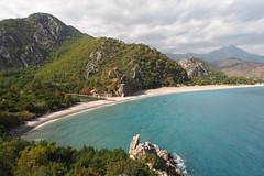 Mount Tahtalia and Olympos Beach from Genovese Castle (s_wh) Tags: cirali trkei lykien olympos baraka house turkey lycia chimera