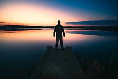 Standing on the Precipice (DJawZ) Tags: selfie landscape morning sunrise water fog epic scene cinematic outdoor