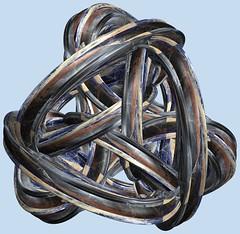 3 Tori /  (TANAKA Juuyoh ()) Tags: torus      mathematica 3d cg parametricplot3d texture code program algorithm abstruct graphic design pattern structure mapping figure                     symmetry