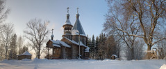 russian winter (Sergey S Ponomarev) Tags: sergeyponomarev canon eos ef24105f40l nature natura landscape paysage paesaggio architecture frost freeze cold trees woods church orthodox winter inverno neve morning sunrise december 2016 panorama nikulchino kirov viatka vyatka wjatka russia russie russland christian europe chimney trunks firewood                     cross