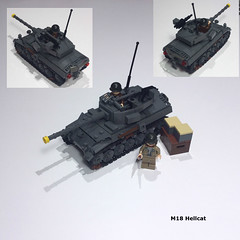 M18 Hellcat (Carpet lego) Tags: m18 hellcat lego ww2 american forces 76mm tank destroyer