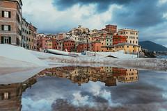 Boccadasse in the mirror (FButzi) Tags: genova genoa italy italia boccadasse mirror specchio barca gozzo boat canon eos 80d 1855isstm borgo village sea mareggiata storm riflesso reflection