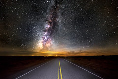 Indian Service Route 5 (Muzzlehatch) Tags: chacoculturenationalhistoricparknewmexico milky way galaxy stars astronomy night road