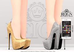 REIGN.- GLITTERATII HEELS (Kenadee Reign) Tags: tmp themeshproject theshops teamreign belleza body secondlife shoes slink heels mesh maitreya pumps reign freya hourglass