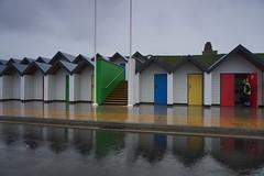 Swanage (Mike Kohnstamm) Tags: swanage rain beachhut
