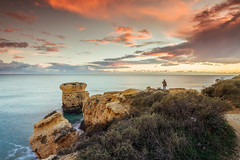Sun and sky contemplation (Vitor Pina) Tags: seascape sea landscape moments momentos photography waterscape longexposure light sunset sky paisagem