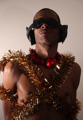 IMG_5775 X MASS TIME III (WORLD OF FMR) Tags: xmass christmass black colors garland blind leather canon boy beauty