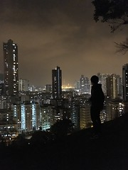 Silhouette (anfieldho7) Tags: night person sky light yellow nightlife silhouette silhouettes tree leaves leaf hong kong city water waterfront skyline architecture outdoor white bridge hill mountain flickr clickx youth young life leisure phone iphone ios notdslr