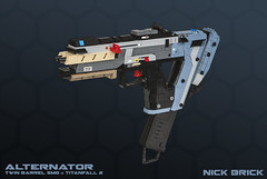 Alternator - Titanfall 2 (Nick Brick) Tags: lego titanfall 2 titanfall2 alternator smg submachine gun pistol machine machinepistol double barrel pilot titan respawn time device timetravel jack cooper bt prop replica weapon hatchet nickbrick 64