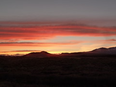 Morning Sunrise (Domhnall Iain) Tags: sunrise red yellow hills silhouette pink salmon clouds frosty