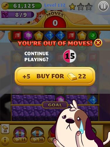 Jewel Mania Save Me!: screenshots, UI