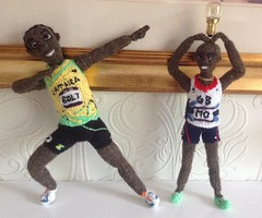 More Power MO Farah my #copyright photo and knitted designs (Denise Salway) Tags: art wales knitting media doll dolls witch mo virgin richard advert bolt welsh denise branson figures farah 2012 fibre the olypmic usain salway