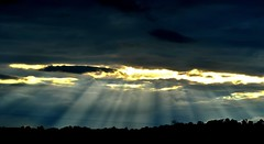 Crepuscular Rays (Dave McGlinchey) Tags: sky sunlight ice water weather clouds droplets skies cloudy rays vapour sunbeams icecrystals cloudscapes crepuscularrays crepuscular cloudsstormssunsetssunrises