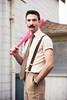 Ethan (mouellic) Tags: street travel pink original portrait men beard photography photographer baseball candid badass bat photographers tie nelson ethan clip movember moustache rush artists suspenders tweed 604 vancity tumblr mouellic