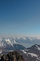 Above the Haze (Dan Moran AK) Tags: mountains alaska landscape paragliding paraglider turnagainarm chugach anchoragealaska chugachmountains chugachstatepark mchughpeak
