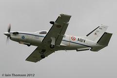 160/ABV - TBM700 (iainthomson84) Tags: uk aircraft air royal airshow international departures raf 2012 fairford airtattoo