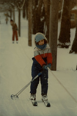 Genine, Eastover Ski Resort (Mario Genna) Tags: winter vacation snow cold girl skiing daughter skilift 1983 massachusets