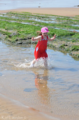 Water Run (karllaundon) Tags: family sea summer sun cute beach fun happy seaside day child laugh northeast rockpool redcar