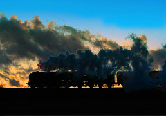 AW-14-014 steam train night storm clouds 25-01-14 (big.al1946) Tags: sunset train unitedkingdom smoke sheffield railway steam steamrailway loughborough stormclouds quorn southyorkshire greatcentralrailway 70013olivercromwell alanweaver