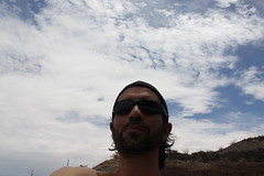 Me (See El Photo) Tags: blue shirtless vacation arizona sky hairy white man black color male guy me water hat sunglasses clouds self canon hair neck beard greek eos rebel boat italian cloudy head longhair tan az dude cuban forties parker 44 unshaven noshirt selfie notnude t1i