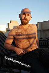 Geoff (Levi Smith Photography) Tags: shadow shirtless man men art fashion beard jeans deco