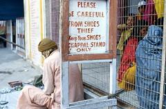 India (Nick Kenrick.) Tags: india hindu candid chappal thief shoes shoestand chappalstand rishikesh