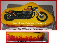 hot stuff (The Whole Cake and Caboodle ( lisa )) Tags: birthday cakes cake 5 flames harley motorbike motorcycle whangarei birthdaycakes caboodle thewholecakeandcaboodle kidscakeswhangarei birthdaycakeswhangarei