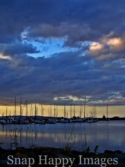 Marina (snaphappy80) Tags: sunset sky nature water clouds marina boats town orkney kirkwall refelection