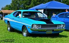 Dodge Demon (scott597) Tags: blue columbus ohio white black stripe trails national demon dodge hood mopar nats 2014