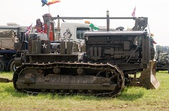 Caterpillar D2 Bulldozer (MJ_100) Tags: show army military wwii caterpillar ww2 vehicle bulldozer d2 usarmy secondworldwar revival warandpeace