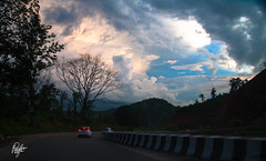 Road Trip (Pulin Pegu) Tags: road trip blue light sky clouds dusk assam