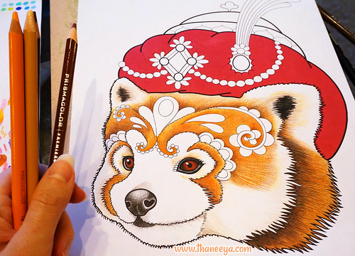 Red Panda Coloring Page By Thaneeya McArdle
