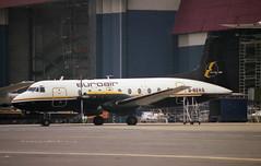 HS.748 (Pentakrom) Tags: airport 1987 aircraft aviation luton airliner hawker avro 748 siddeley euroair gbekg