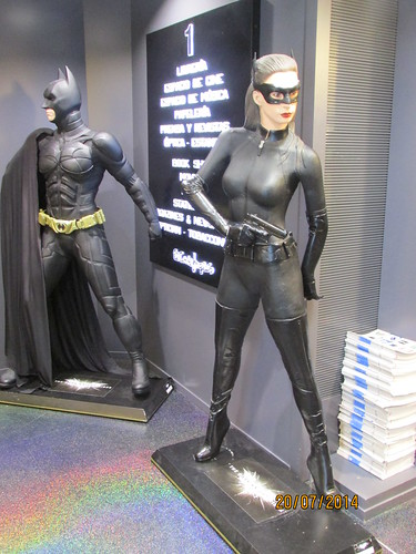 Batman and Catwoman (David Denny2008) Tags: madrid sexy leather outfit spain breasts feline gun nipples boots boobs pert pussy july curvy bust figure masked revolver firm busty lamancha avenger 2014 bosoms braless 34dd