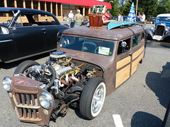 1961 Willys RatRod (bballchico) Tags: 1961 willys woody wagon ratrod allfamilytowing willys8 lowered bagged stationwagon surfboards surfwagon ratbastardsinfestationcarshow 2014 206 washingtonstate