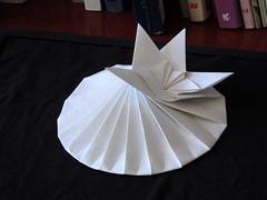 Elliptic fold, from a square paper (orig4mi.) Tags: paper origami ellipse fold