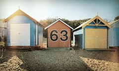 Beach Hut #63 (samiKoo) Tags: city beach canon vintage colours australia melbourne august victoria hut crossprocessing vignette 6d