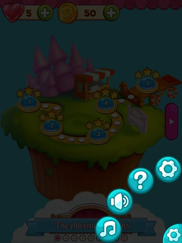 Cookie Jam Settings: screenshots, UI